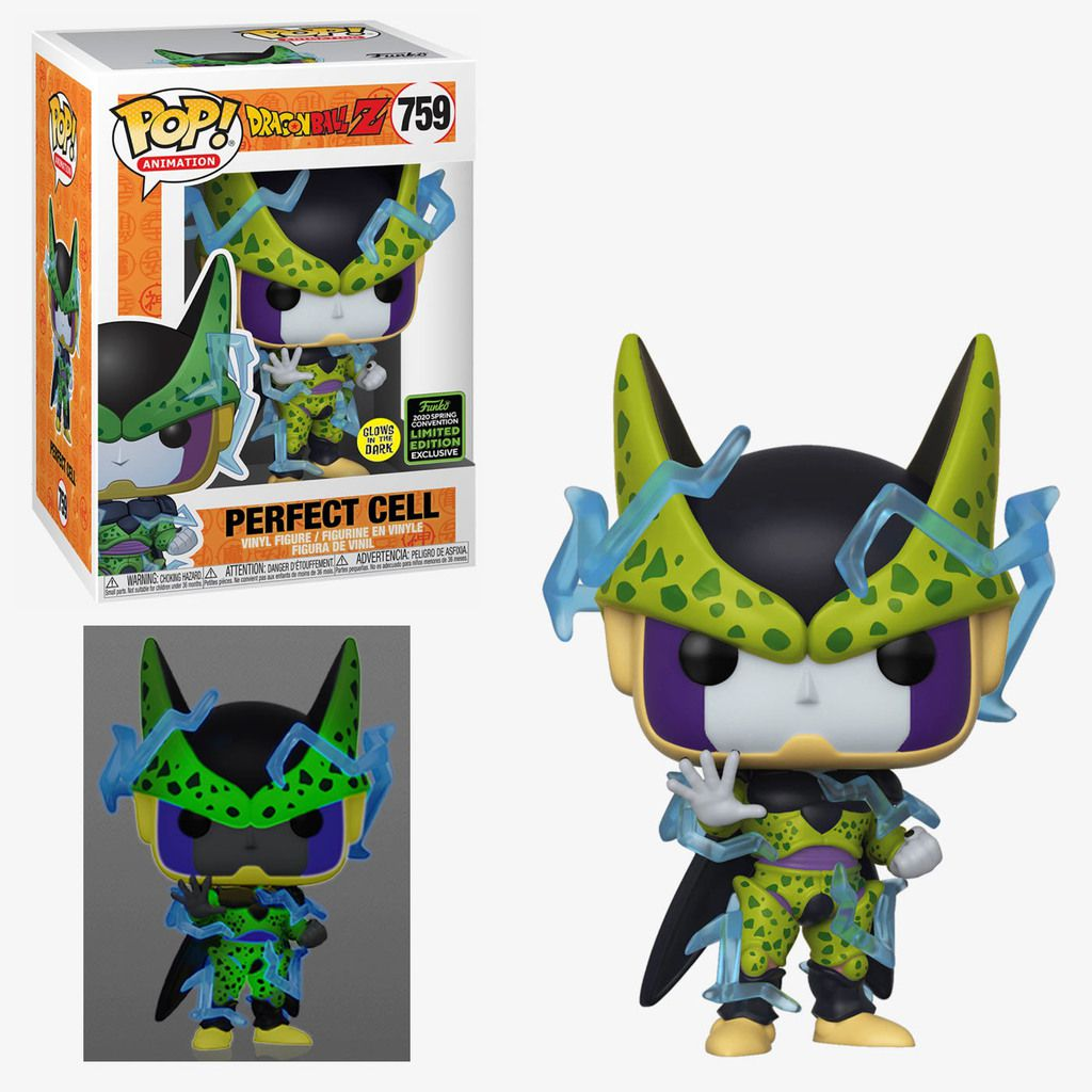 Funko Pop Perfect Cell GITD  2020 Spring Convention Exclusive 759