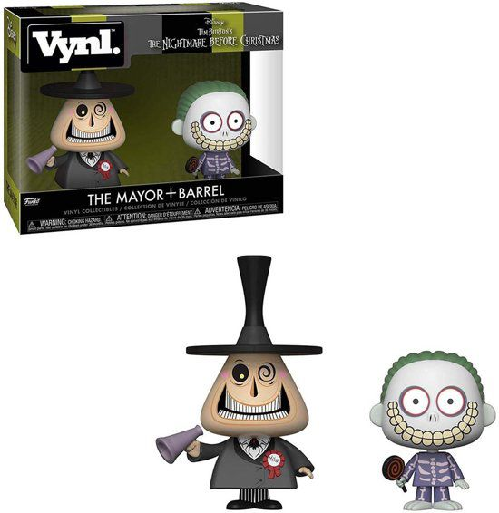 Pack NBX nightmare before Christmas VYNL Mayor + Barrel