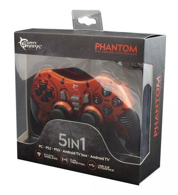 Manette pc - ps2 - ps3 - android White Shark Gaming - Pantheon 5 in 1