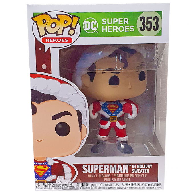 Funko POP ! - DC Super Heroes 353 - Superman In Holiday Sweater