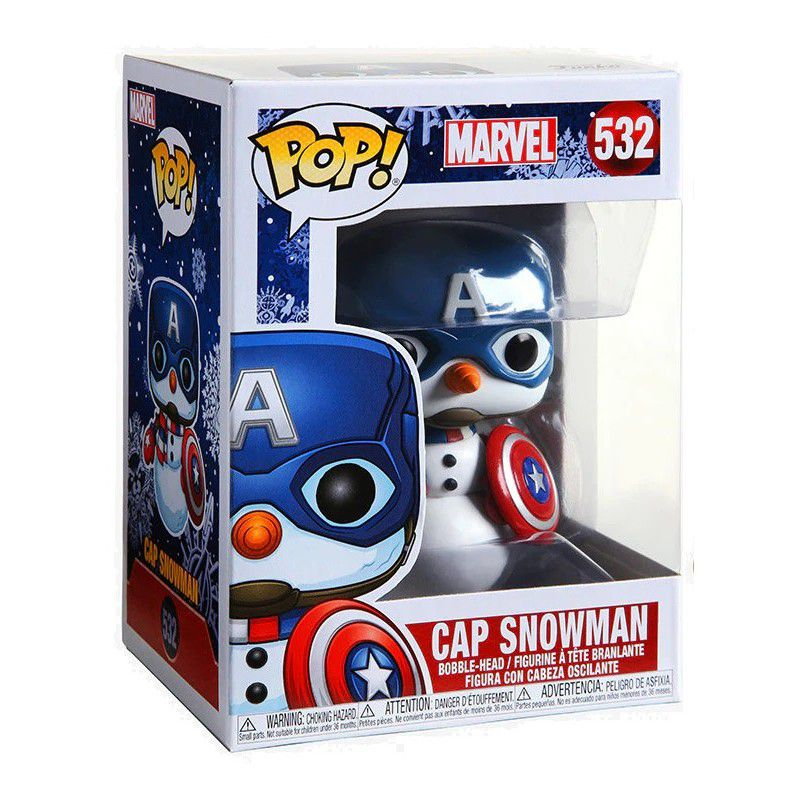 Funko POP Marvel Holiday Captain America Cap snowman 532