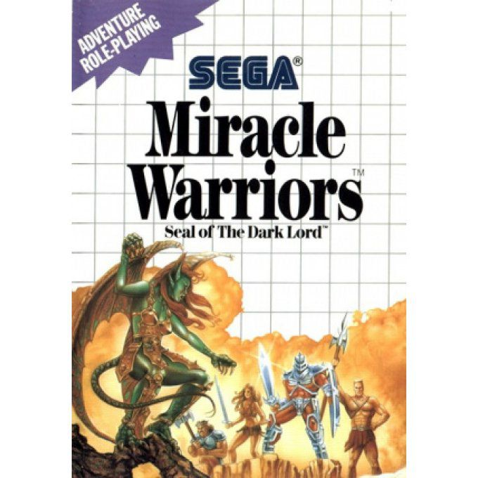 Jeu Master System Miracle Warriors Seal of the Dark Lord Occasion Multi langues