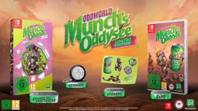 Oddworld : Munch's oddysee SWITCH limited edition
