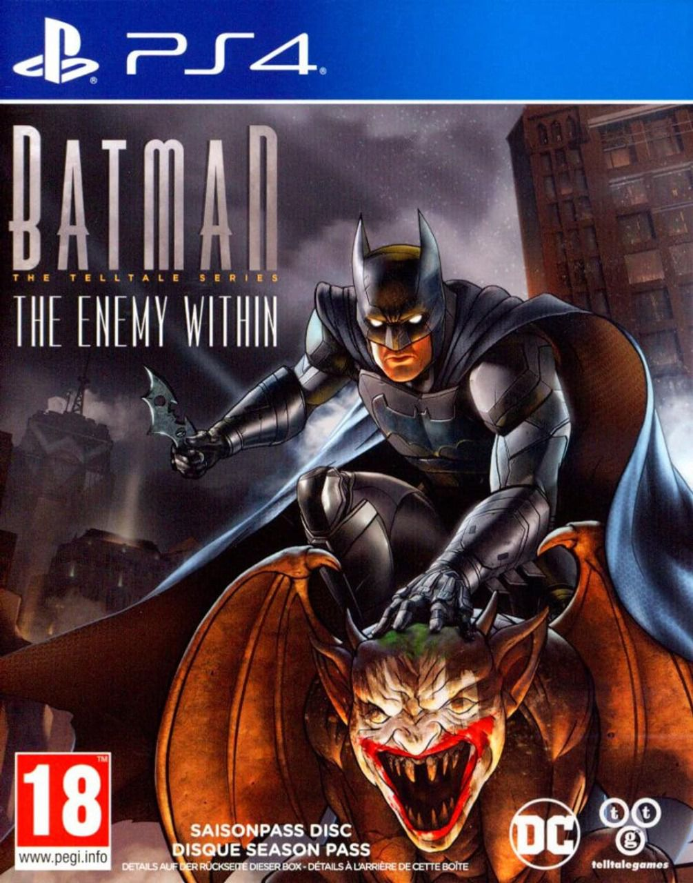 Jeu PS4 Batman the ennemy within - telltale serie (occasion)